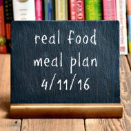 Real Food Meal Plan Week 109