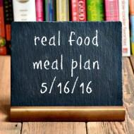 Real Food Meal Plan Week 114