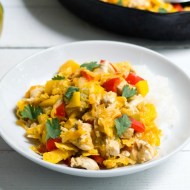 Mango Chicken Tortilla Skillet