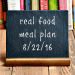 Real Food Meal Plan Week 124