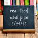 Real Food Meal Plan Week 124