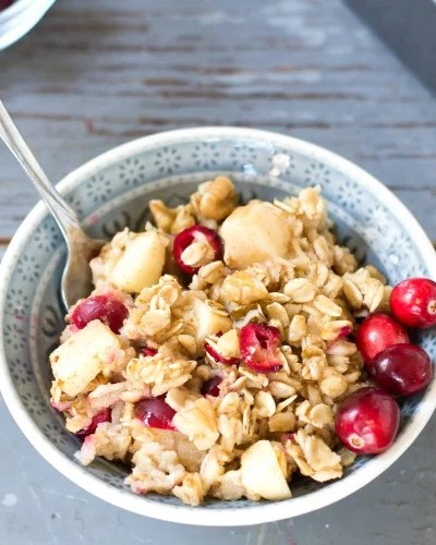 Cranberry Apple Baked Oatmeal