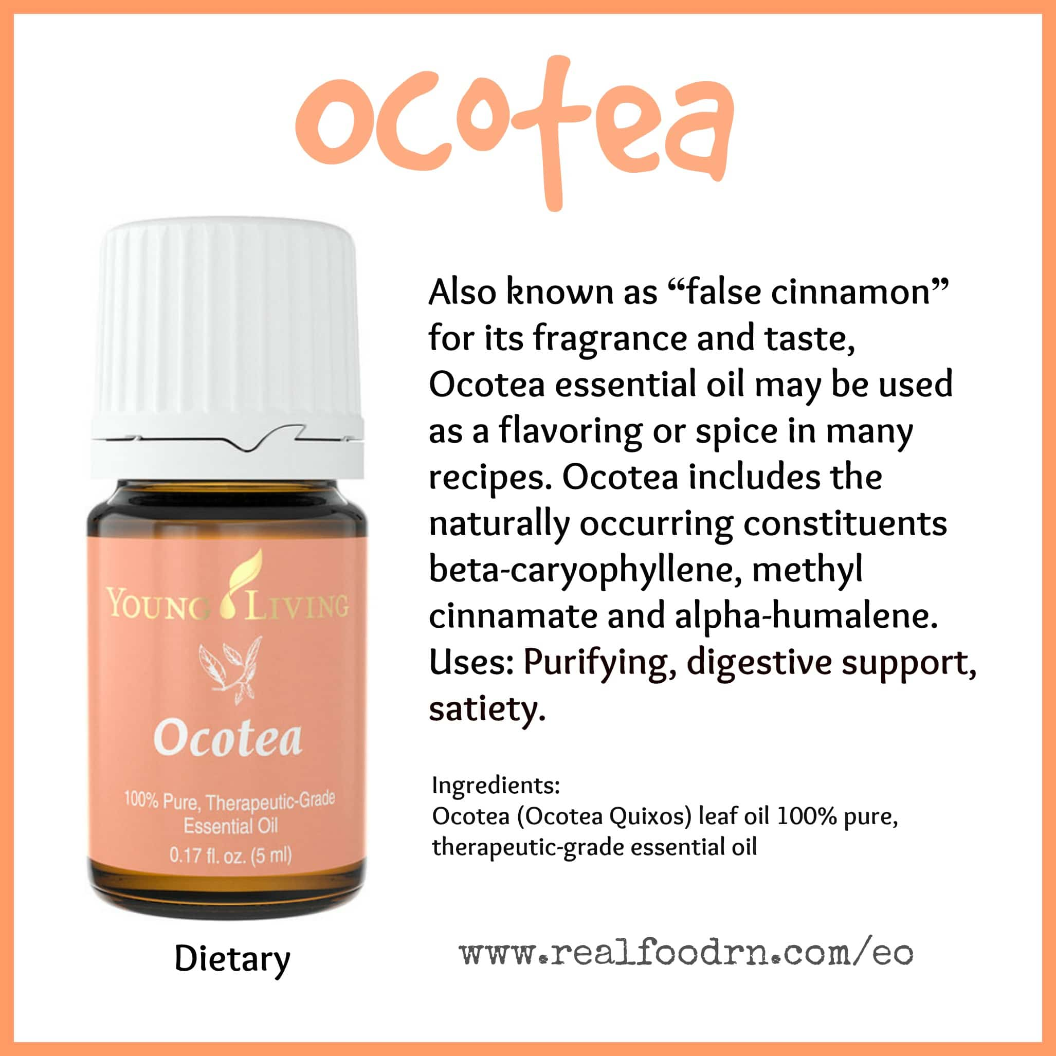 Doterra Olie Ocotea Essential Oil Real Food Rn