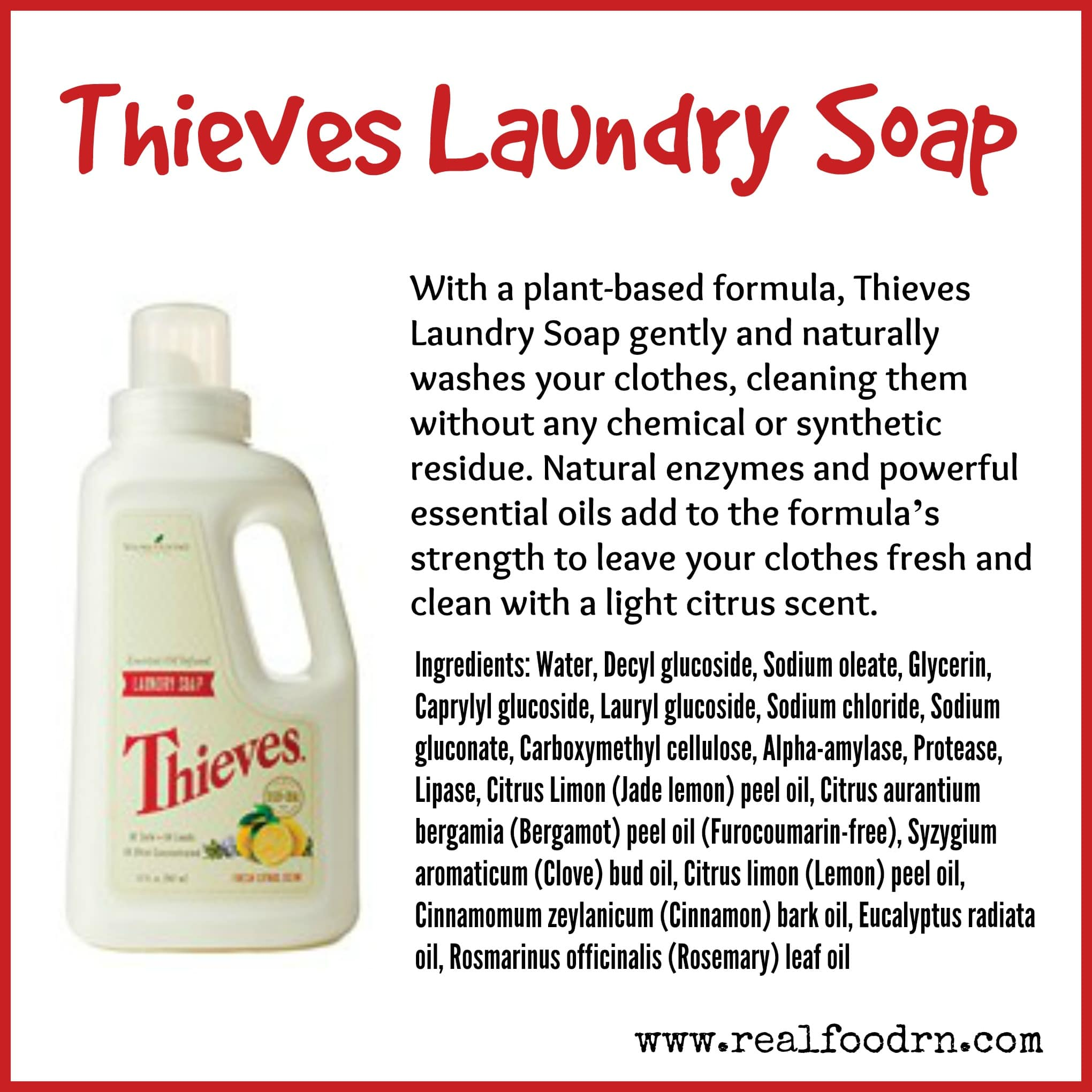 Diy Soap With Essential Oils Thieves Laundry Soap Real Food Rn
