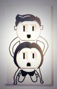 Fornicating wall plates for your electrical outlets ...