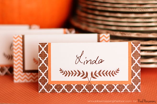 Free Printable Thanksgiving Placecards ⋆ Real Housemoms