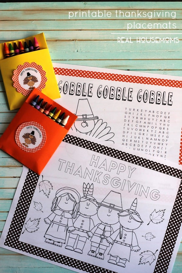 Printable Thanksgiving Placemats ⋆ Real Housemoms