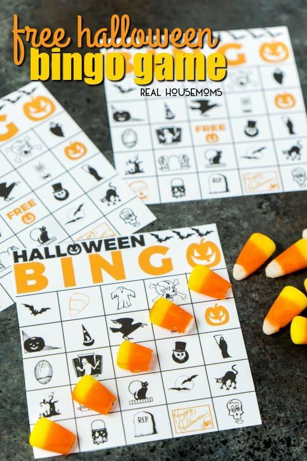 Free Printable Halloween Bingo Game ⋆ Real Housemoms