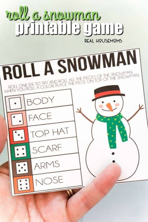 Roll A Snowman Printable Game ⋆ Real Housemoms