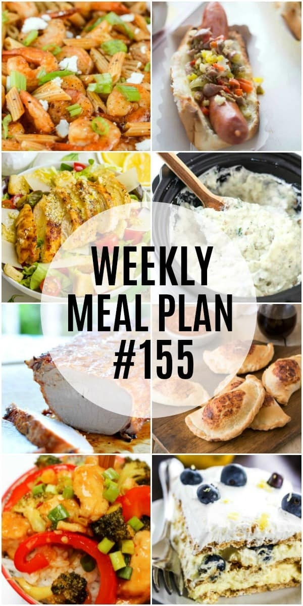 Weekly Meal Plan #155 ⋆ Real Housemoms