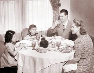 Family Dinner 1950s