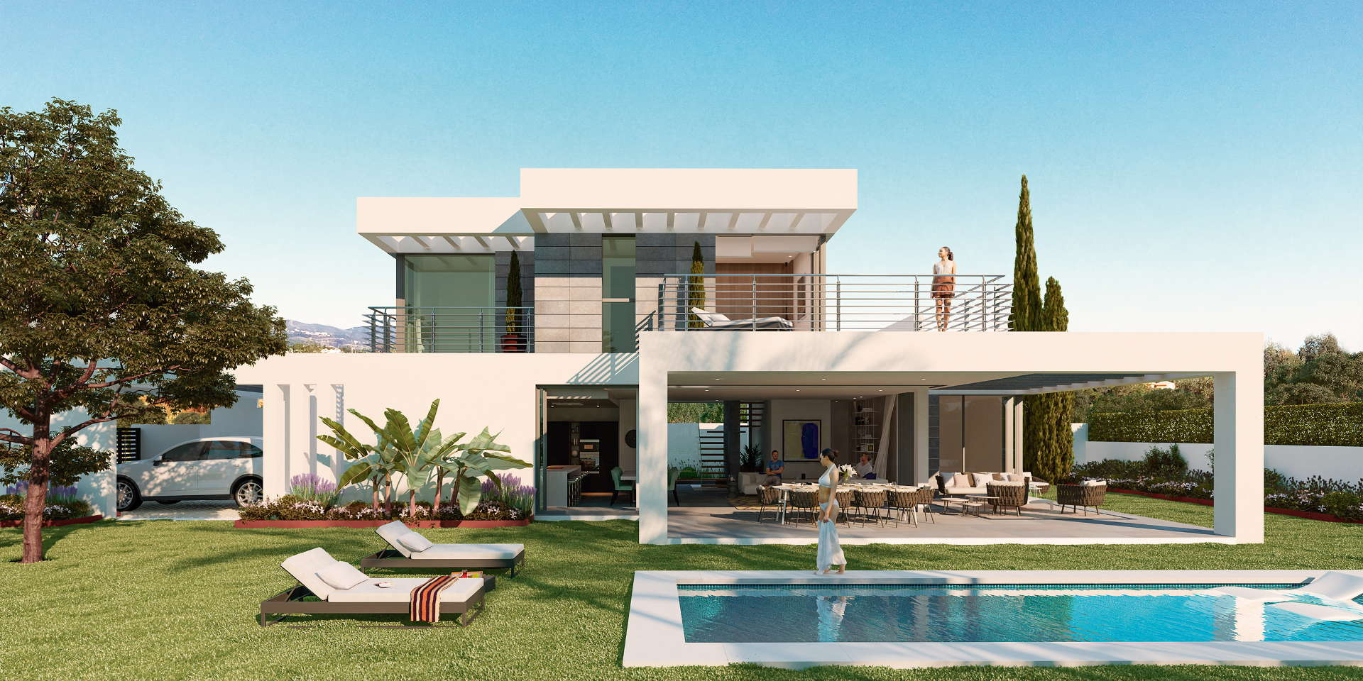 Villa Modern New Modern Villa With Private Pool And Panoramic Views Of ...