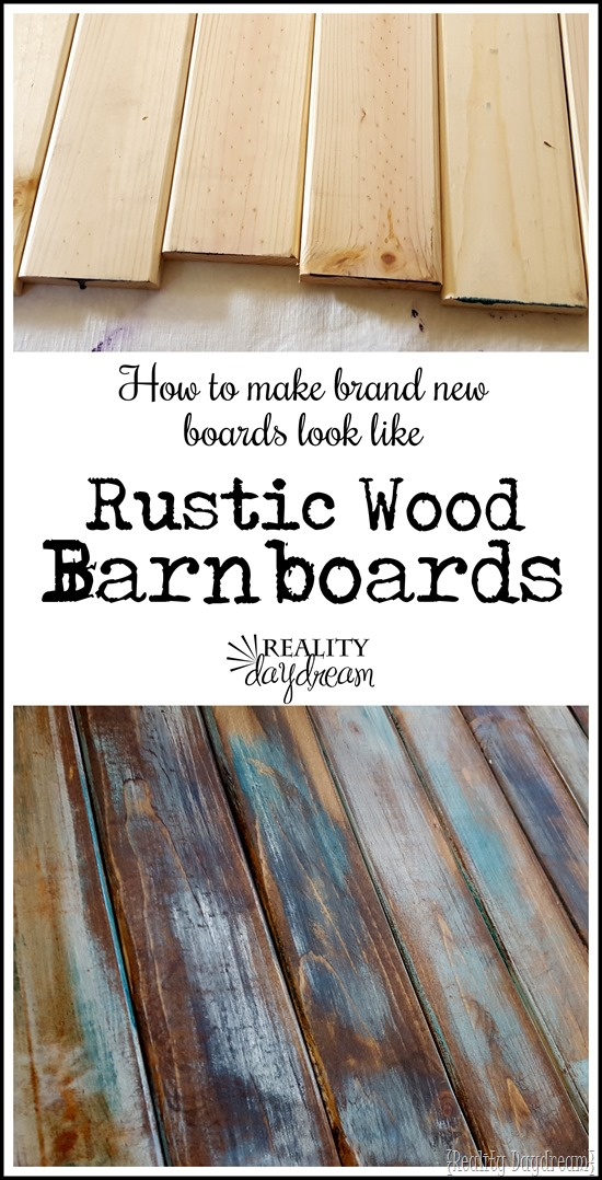 How to Make Distressed Wood Barn Boards from NEW Wood Reality Daydream