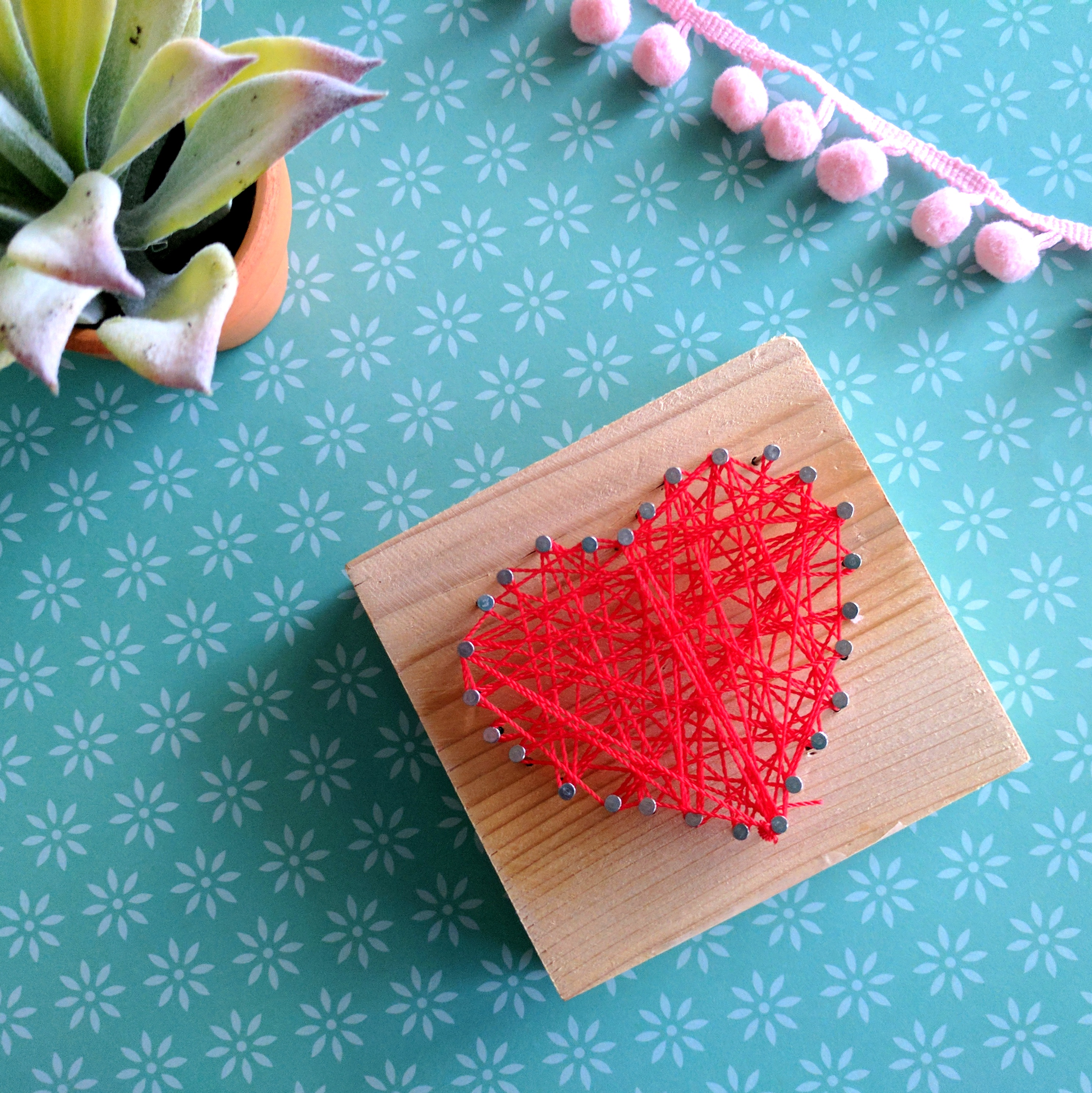 Art And Craft For Preschool Heart Shaped Beginner String Art Kids Craft Reality Daydream