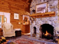 heating a log home  Real Log Style