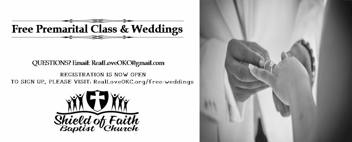 FREE Premarital Class & Weddings @ SOFBC
