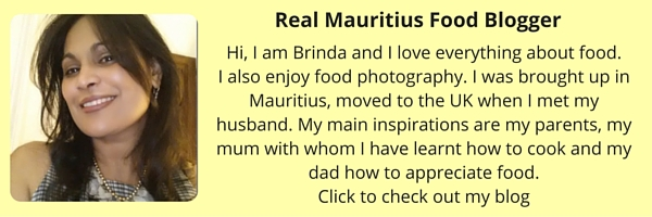 Mauritian food blogger
