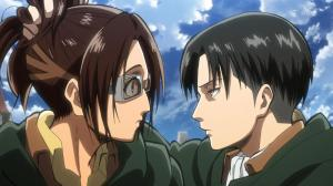 Hanji and Levi AoT