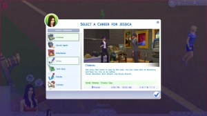 What's the point of these fun careers if your Sim disappears during the workday?