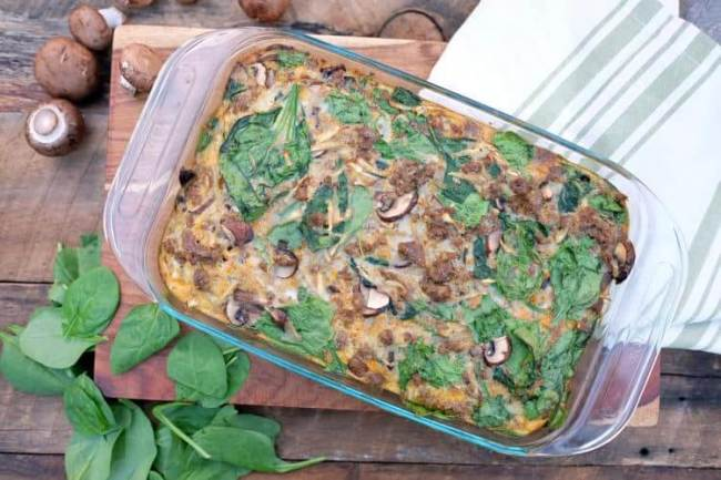 Sausage parsnip breakfast casserole