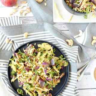 Cabbage salad with creamy cashew dressing two