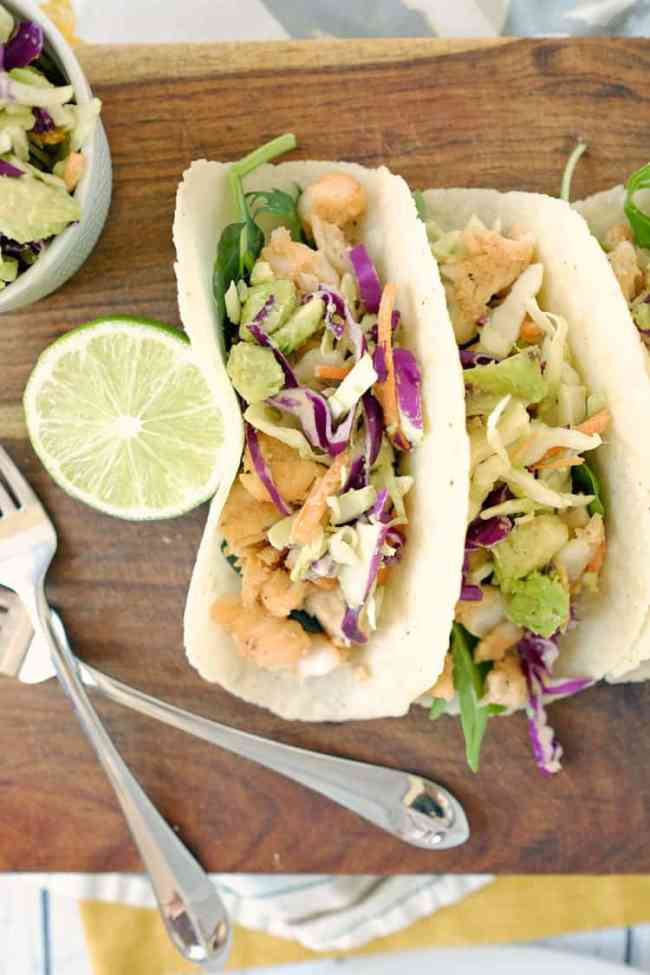 Paleo fish tacos and coleslaw gf dairy free for What kind of fish for fish tacos