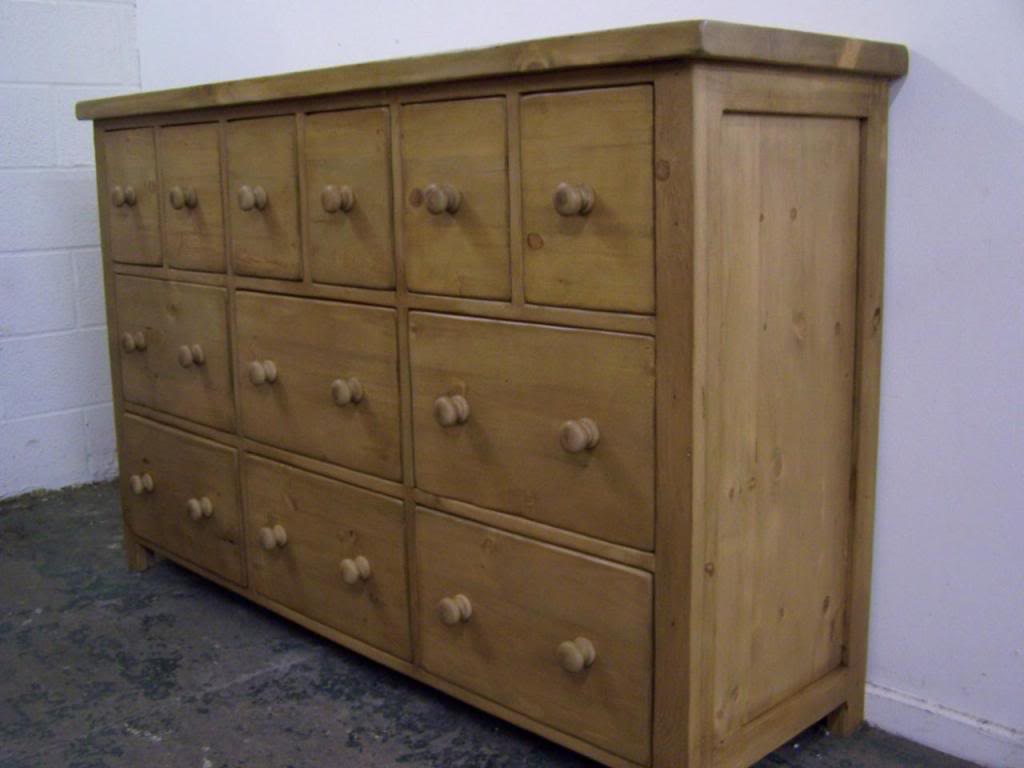 12 Drawer Chest Of Drawers Napoli Solid Pine Chunky 12 Drawer Chest Of Drawers