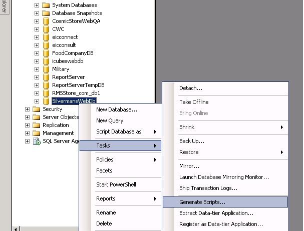Convert SQL 2008 Database to SQL 2005 ( How to Use SQL 2008 Database - sql convert