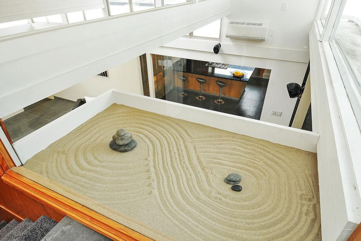 Office Zen Garden 39reimagined 39 Eichler In San Jose Includes Interior Zen Garden