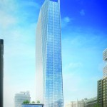 Rendering of new Hines tower under construction in downtown Houston at 609 Main.