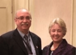 RealtyNewsReport Editor Ralph Bivins and Houston Mayor Annise Parker.
