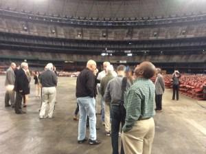 ULI Advisory Panel tours Astrodome in Houston. Photo by Ralph Bivins