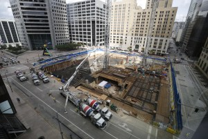 Over the weekend, Skanska poured the foundation of the Capitol Tower in downtown Houston.