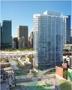Hines and Invesco are developing a residential tower in San Francisco.