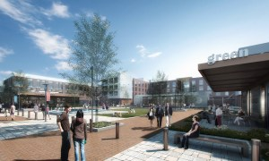 Rendering of Century Square, a Midway mixed-use project under construction near Texas A&M University.