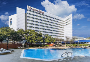 The 419-room Sheraton North Houston has been sold.