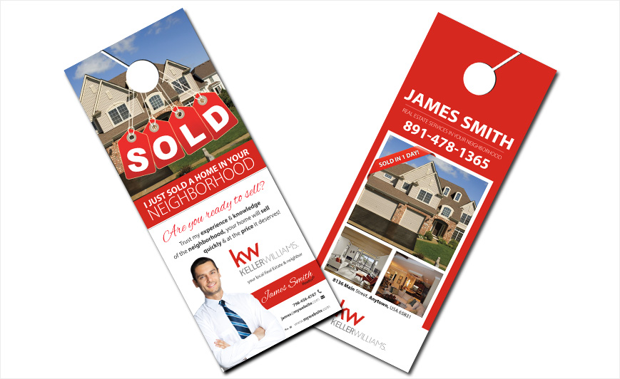Keller Williams Door Hangers Keller Williams Door Hanger Templates - door hanger design template