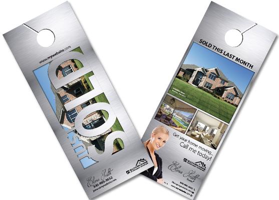 Real Estate Door Hangers Real Estate Agent Door Hangers
