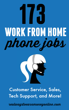 150 Work From Home Phone Jobs