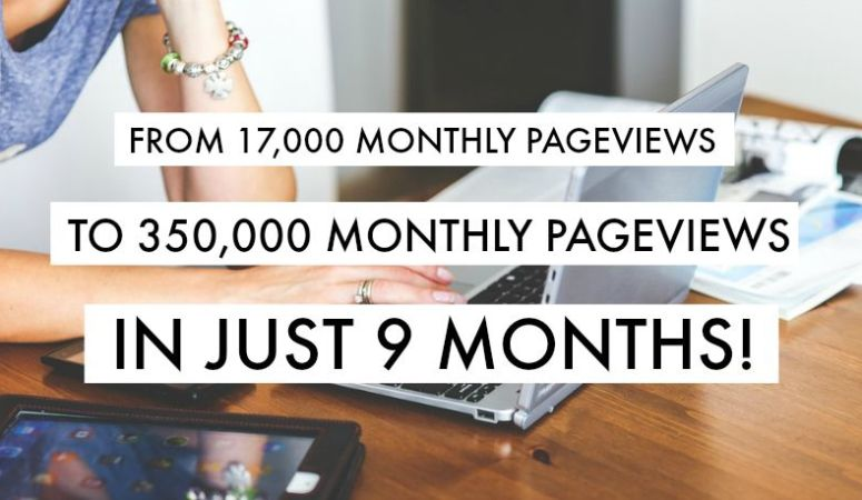 Blogger Success Interview: From 17K to 350K Monthly Page Views in 9 Months!