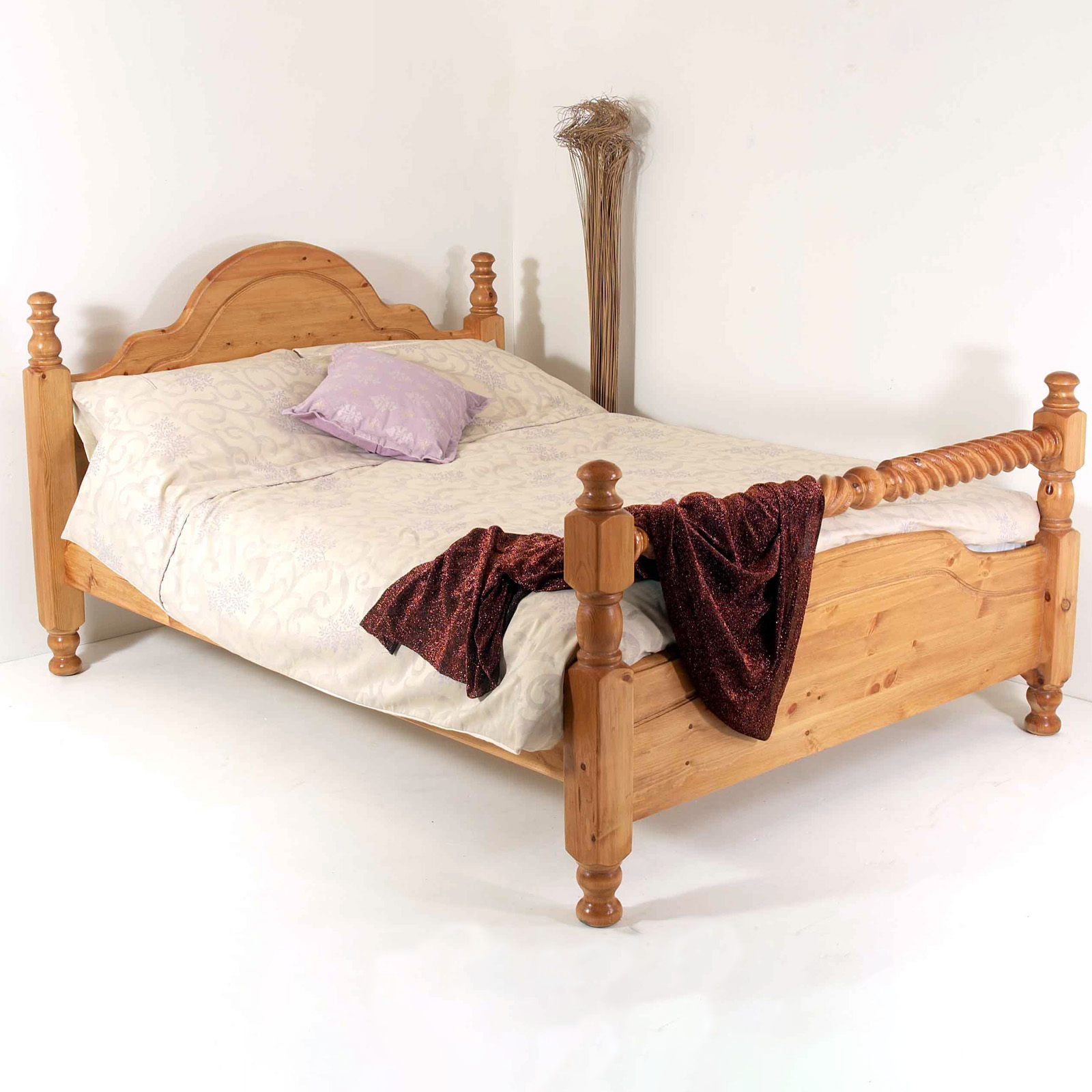 4ft Double Bed Size 4ft Classic Bed Small Double With Barley Twist Rail