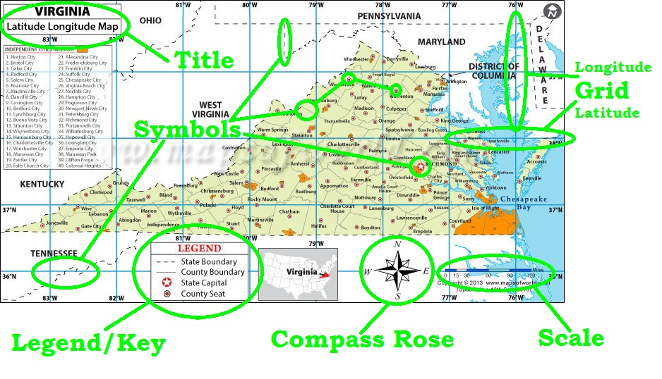 Parts of a Map - Mr Reardon\u0027s US II