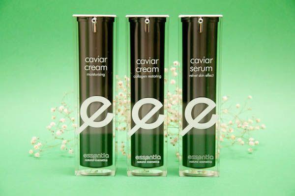 Las tres cremas de la línea de caviar de Essentia