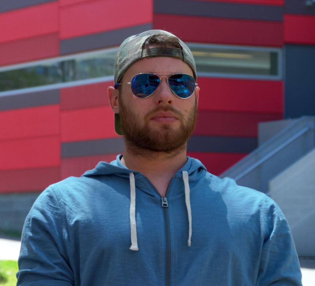 David Rampil, Stony Brook University student. Photo by Rebecca Anzel.