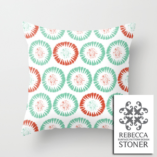 Block Print Circles_cushion