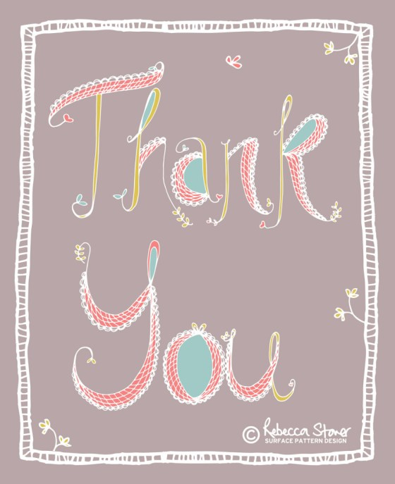 Thank you © Rebecca Stoner www.rebeccastoner.co.uk
