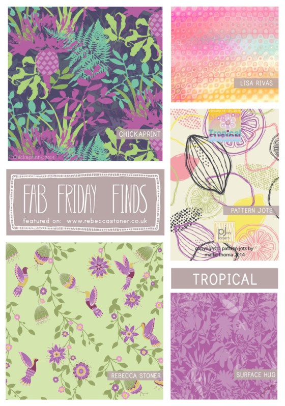 Fab Friday Finds - week 14 - Tropical -  on Rebecca Stoner www.rebeccastoner.co.uk