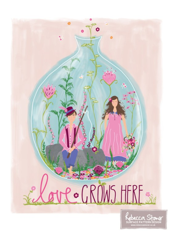 'Love Grows Here' GTS entry by Rebecca Stoner www.rebeccastoner.co.uk