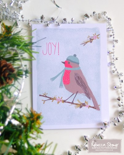 'Joy' Christmas Card © Rebecca Stoner www.rebeccastoner.co.uk