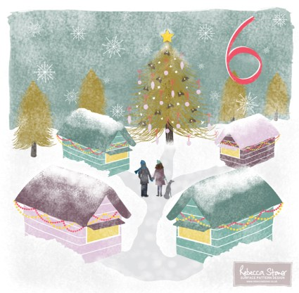 Christmas Advent Challenge - Day 6 - Christmas Market by Rebecca Stoner www.rebeccastoner.co.uk